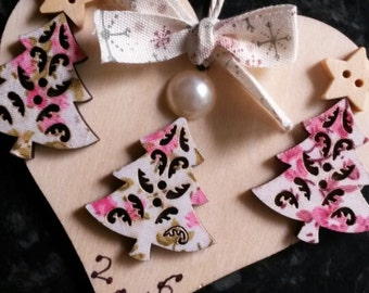 Personalised Wooden Heart Christmas Decoration