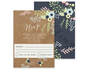 Floral Wedding RSVP Card | Flora | Printable DIY Invite