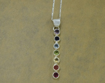 Sterling Silver Chakra Pendant with Chain