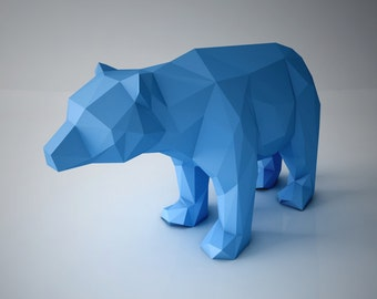 "DIY PAPER SCULPTURES  - Decorative Bear Sculpture ""Orso"""