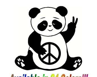 Peace Panda decal (vinyl wall/car/window sticker)