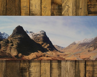 Glen Coe Panoramic Photo Canvas