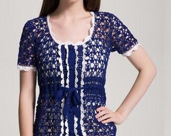 Kate Middleton Styel Crochet blouse Royal blouse