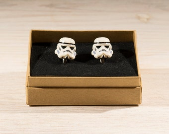 Star Wars gift, Star Wars Cufflinks, Storm Trooper Cufflinks, Lego style