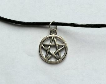 Supernatural inspired pentacle (pentagram) necklace/choker
