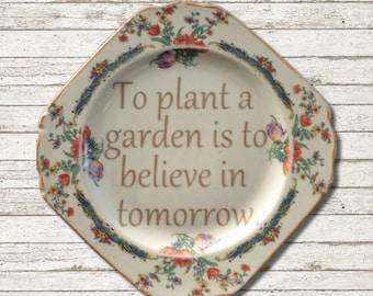Vintage Plate Saying