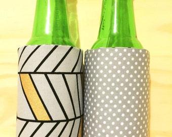 Stubby Hug- insulated - reversible -stubby cooler -wine- beer- hens-bridal - wedding - gift - present - party - festival- bottle- Christmas