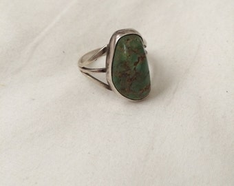 70's Green Turquoise Southwest Ring