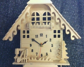 Cuckoo Clock Wood kit puzzle with working clock (ON SALE!) Great Christmas Advent Gift!