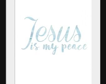 Jesus is my peace blue