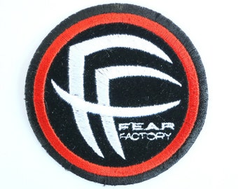 Vintage FEAR FACTORY Sew On Embroidered Death Metal Patch