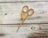 Gold Swan Antique Crafting Scissors