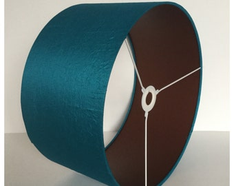 Blue Crushed Silk & Bronze Lampshade,  Lightshade, Table Lamp, Various Sizes
