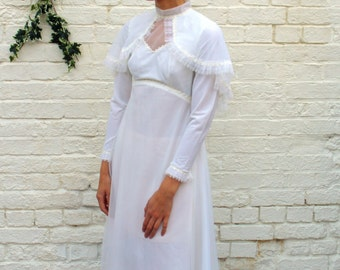 Maggie 1970s bridal dress