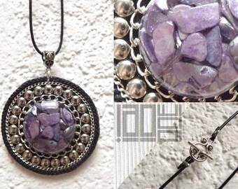 Handmade unique - LaoOne - purple - violet
