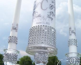 Vine Design Unity Candle and holder Set, Wedding Candle Set, Unity Candle holder, Church wedding, Candles for wedding, Outdoor wedding, love