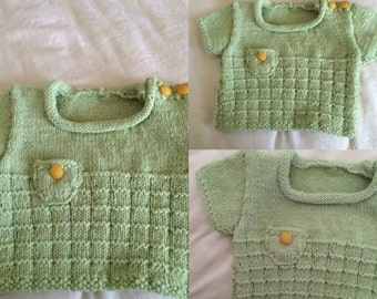 Washable Merino wool very soft baby sweater from 0-3 months