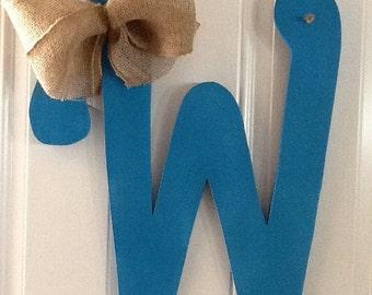 W-Hand Painted Custom Wooden Letter Door Hanger