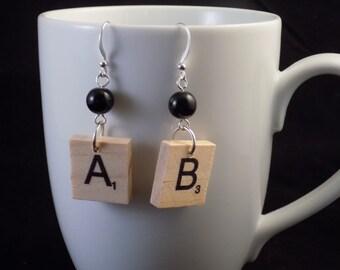 Custom Scrabble Earrings
