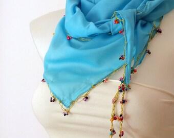 Turkish scarf Oya scarf Soft cotton scarf Spring accessories Summer accessories Women accessories Spring fashion Summer fashion Oya Crochet