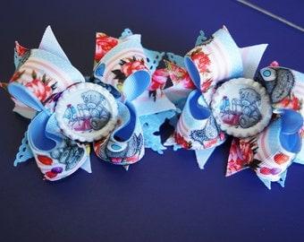 Teddy Hair Bows, Handmade Inspired Hair Bows, Kids Fashion, Girls Teddy Hair Bows