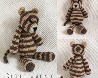 Troy the Tiger - Handmade crochet stuffed animals