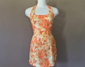 90s Mini Dress / 90s minidress / Vintage 90s Dress/ Vintage Floral Dress / Grunge Dress / Floral Summer Dress / 90s Clothing / 90s floral dr