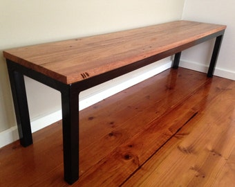 Messmate and Steel Bench Seat