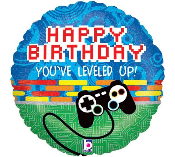 Video Game Controller Balloon 18 Foil Mylar Pixel Gamer