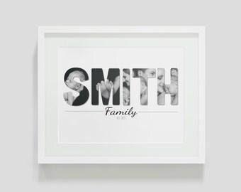 Family Photo Cutout Wall Print