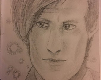 11th Doctor Drawing Portrait