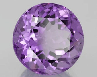 Round Faceted Genuine (Natural) Bright Purple Amethyst 2mm to 9mm. 810-211