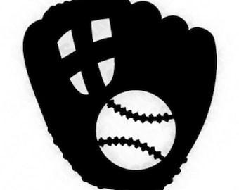 Baseball and Glove Vinyl Decal