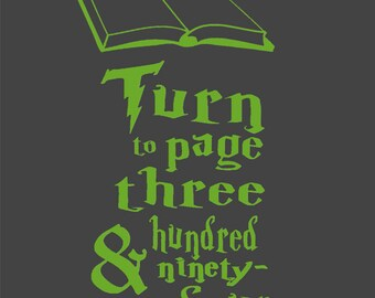 Custom Harry Potter Severus Snape Book Quote Vinyl Decal