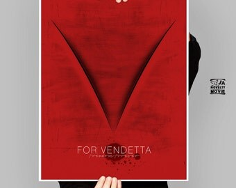 V for vendetta, Freedom Forever, David Lloyd, Alternative movie poster, Minimalist Vendetta, Printable large poster, A1, by janovelty