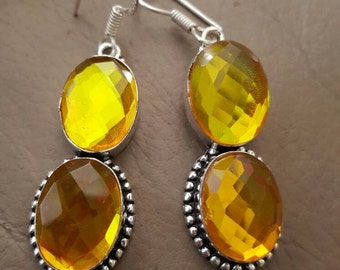 Gold Mystic Quartz Earrings!