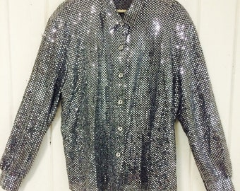 Vintage silver sequined Joanna top