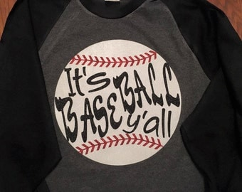 Baseball Y'all 3/4 Sleeve Shirt