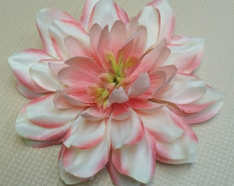 Pink and white hair flower