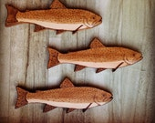 An English Hover of Trout Wall Hanging, great gift for fisherman, pyrography art, wall decor, country style