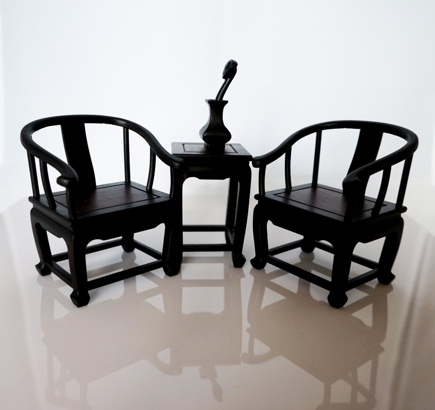 Traditional chinese wooden fauteuil model set 2 miniature - Traditionele fauteuil ...