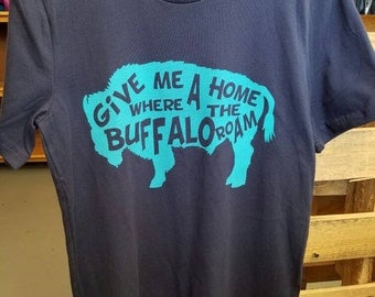 Give me home where the Buffalo roam.  Oklahoma tshirt. Oklahoma boutique.  Plus size.