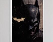 Batman gifts for him best print wall art Gotem city decor