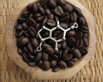 Silver necklace 925 - chocolate Molecule