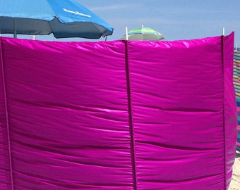 Windscreens - 5' - rip stop - Magenta - Wind blocker - Warmer - Privacy - Hot tub, Camping, RV, Backyard  - Made to order - Poles Separate