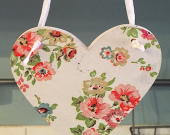 Cath Kidston hanging wooden Heart