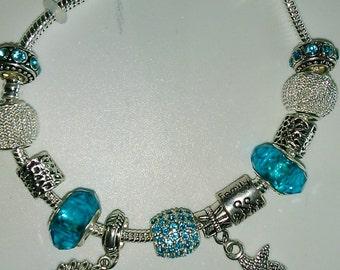 turquoise bracelet, charms, pendants nodes