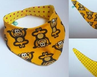Scarf neckerchief burp cloth Baby Monkey Animal
