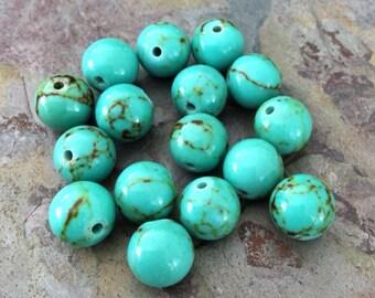 Full Strand of Turquoise Beads, 8mm