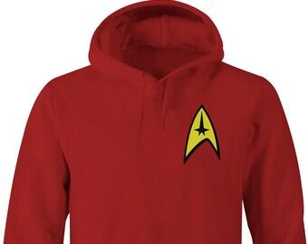 Star Trek Red Hoodie Left Chest, Star Trek Red Hoodies, Star Trek, Star Trek Hoodie , Star Trek Beyond
